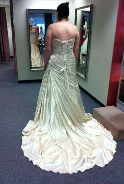 Maggie Sottero – Size 16 Strapless dress | Second hand wedding dresses Inverell - 2