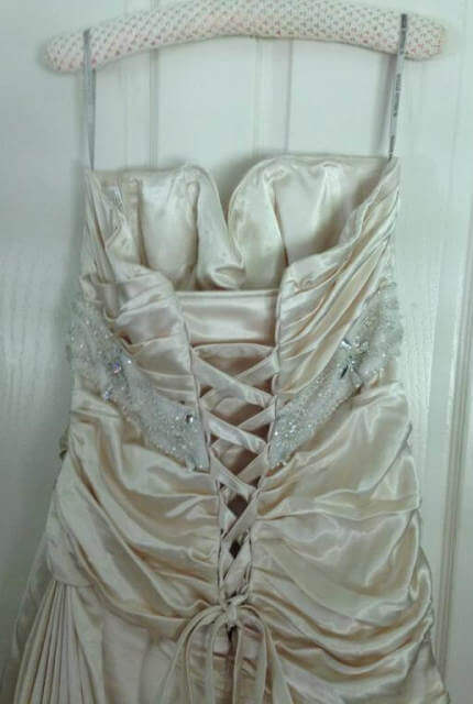 Maggie Sottero – Size 16 Strapless dress | Second hand wedding dresses Inverell - 4