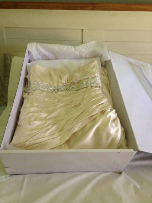 Maggie Sottero – Size 16 Strapless dress | Second hand wedding dresses Inverell - 7