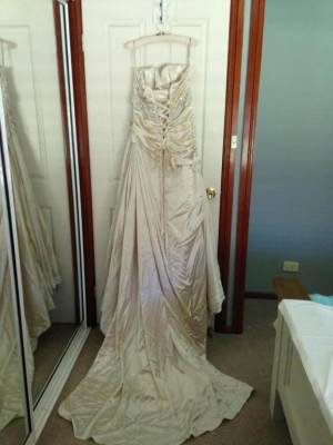 Maggie Sottero – Size 16 Strapless dress | Second hand wedding dresses Inverell - 6