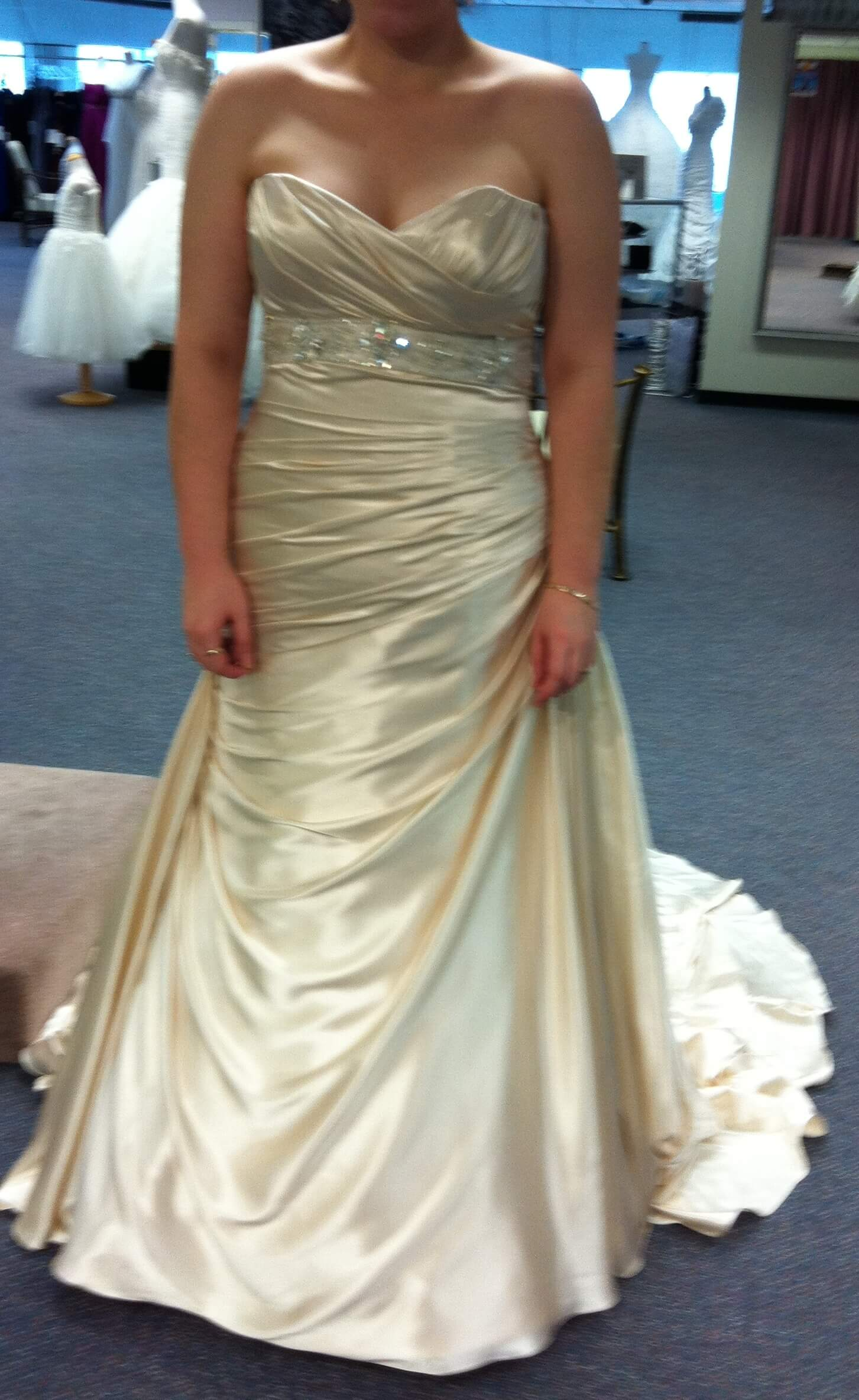 Maggie Sottero – Size 16 Strapless dress | Second hand wedding dresses Inverell - Size 16