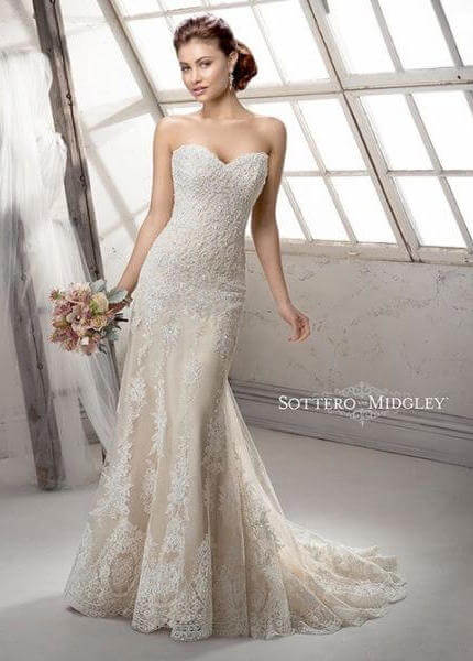 Sottero and Midgley – Size 8 Sheath dress | Second hand wedding dresses langwarrin - 6