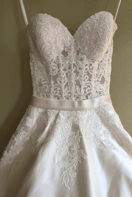 Satin dress – Size 6 A-Line dress | Second hand wedding dresses Maroubra - 4