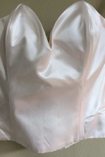 Satin dress – Size 6 A-Line dress | Second hand wedding dresses Maroubra - 5