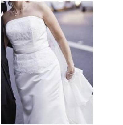 Angeline – Size 12 Strapless dress | Second hand wedding dresses McDowall - Size 12