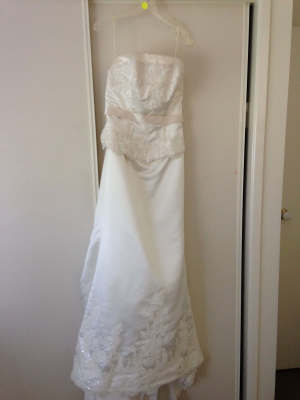 Angeline – Size 12 Strapless dress | Second hand wedding dresses McDowall - 4