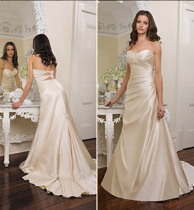 Second Hand Wedding Dresses: Angeline - Size 8 A-Line Dress