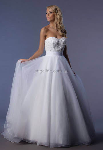 Angeline – Size 8 A-Line dress | Second hand wedding dresses Currambine - 5