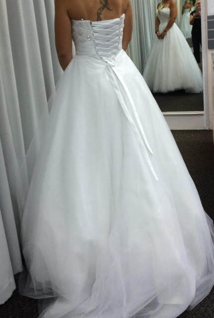 Angeline – Size 8 A-Line dress | Second hand wedding dresses Currambine - 2