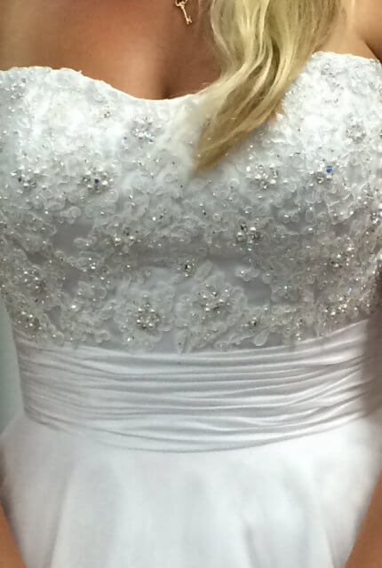 Angeline – Size 8 A-Line dress | Second hand wedding dresses Currambine - 3