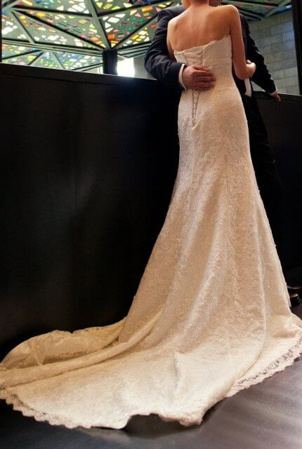 Brides of Melbourne – Size 8 A-Line dress | Second hand wedding dresses Essendon West - 7