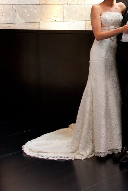 Brides of Melbourne – Size 8 A-Line dress | Second hand wedding dresses Essendon West - 3