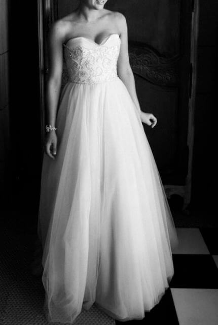 Suzanne Harward – Size 10 Strapless dress | Second hand wedding dresses Elwood - Size 10