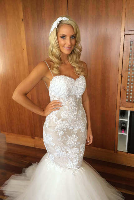 Personalised Weddings Couture – Size 10 Fishtail dress | Second hand wedding dresses Bondi - 2