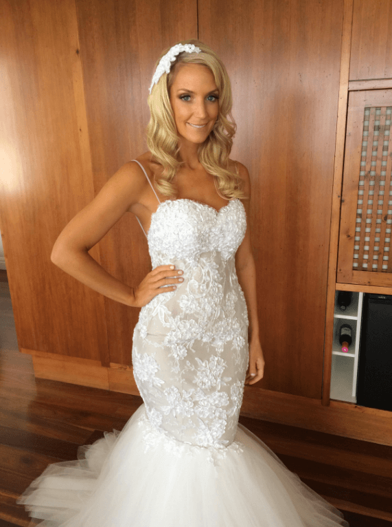 Personalised Weddings Couture – Size 10 Fishtail dress | Second hand wedding dresses Bondi - Size 10