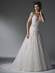 Sottero and Midgley – Size 8 A-Line dress | Second hand wedding dresses Mooloolaba - Size 8