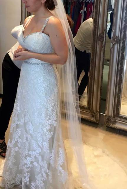 Sophia Tolli – Size 10 Sheath dress | Second hand wedding dresses Chirnside Park - 6