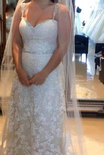 Sophia Tolli – Size 10 Sheath dress | Second hand wedding dresses Chirnside Park - 4