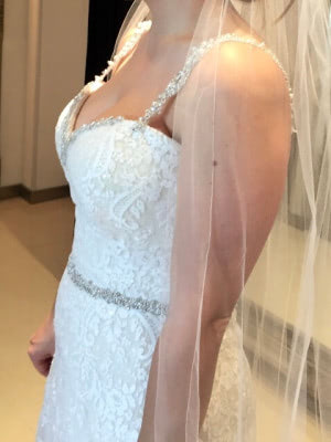 Sophia Tolli – Size 10 Sheath dress | Second hand wedding dresses Chirnside Park - 5