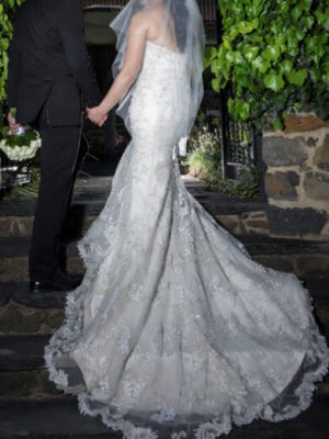 Sottero and Midgley – Size 8 Fishtail dress | Second hand wedding dresses Coburg North - 5