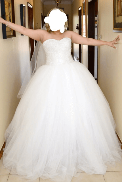 Personalised Weddings Couture – Size 16 Ball Gown dress | Second hand wedding dresses Revesby - Size 16