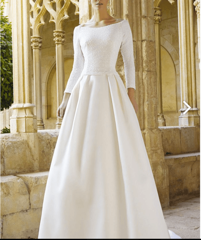 Raimon Bundo – Size 6 A-Line dress | Second hand wedding dresses Verdun - Size 6
