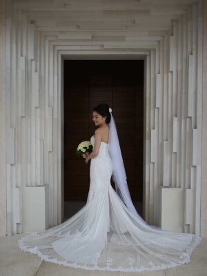 Bespoke / Other – Size 6 Fishtail dress | Second hand wedding dresses Melbourne - Size 6
