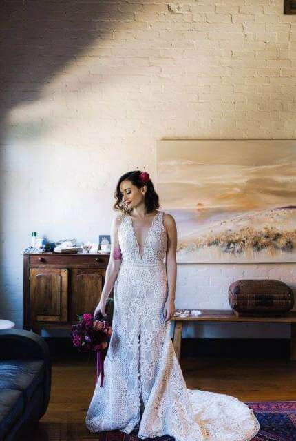 Suzanne Harward – Size 12 Fit and Flare dress | Second hand wedding dresses Fitzroy North - 2