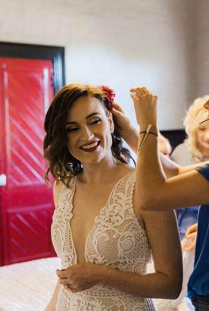 Suzanne Harward – Size 12 Fit and Flare dress   Second hand wedding dresses Fitzroy North - 3