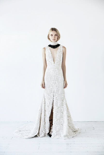 Suzanne Harward – Size 12 Fit and Flare dress   Second hand wedding dresses Fitzroy North - 4