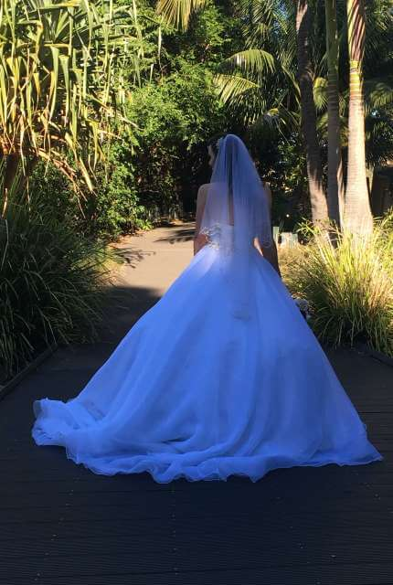 Essense of Australia – Size 14 Strapless dress | Second hand wedding dresses Bow bowing - 8