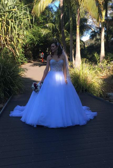 Essense of Australia – Size 14 Strapless dress | Second hand wedding dresses Bow bowing - 9