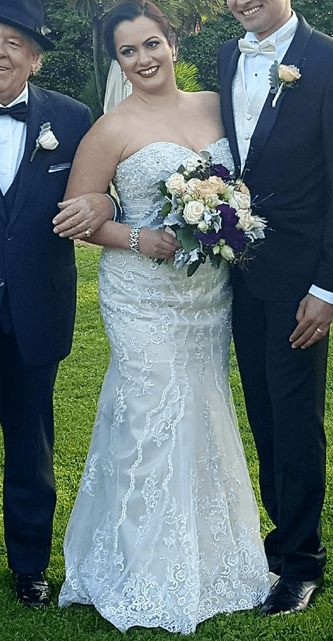 Christina Rossi – Size 14 Fit and Flare dress | Second hand wedding dresses bentleigh - Size 14