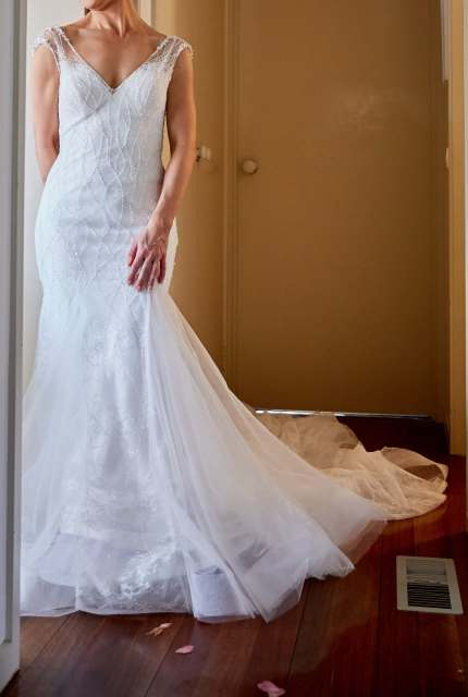 Nicole Spose – Size 10 Fit and Flare dress | Second hand wedding dresses RINGWOOD NORTH - Size 10