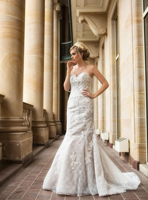 Mia Solano – Size 6 Strapless dress | Second hand wedding dresses CALAMVALE - Size 6