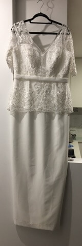 Christina Rossi – Size 14 Fit and Flare dress | Second hand wedding dresses bentleigh - 3