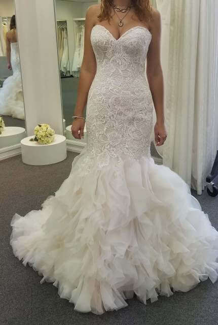 Allure Bridals – Size 10 Fishtail dress | Second hand wedding dresses Nambucca - 4