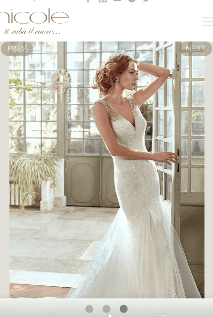Nicole Spose – Size 10 Fit and Flare dress | Second hand wedding dresses RINGWOOD NORTH - 7
