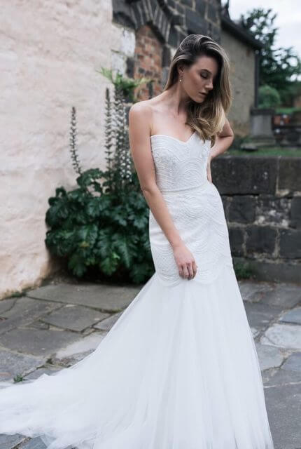 Karen Willis Holmes – Size 12 Fishtail dress | Second hand wedding dresses Mentone - 5