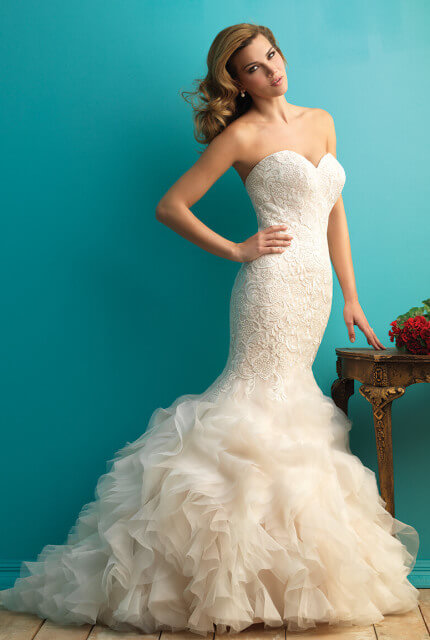 Allure Bridals – Size 10 Fishtail dress | Second hand wedding dresses Nambucca - Size 10