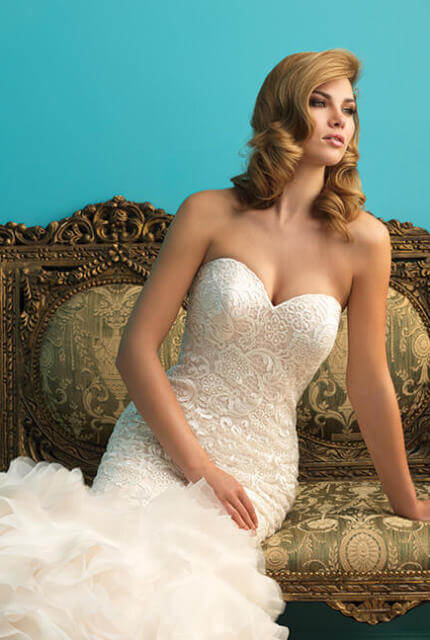 Allure Bridals – Size 10 Fishtail dress | Second hand wedding dresses Nambucca - 7