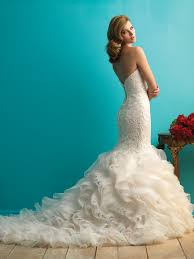Allure Bridals – Size 10 Fishtail dress | Second hand wedding dresses Nambucca - 6