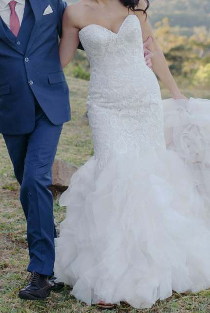 Allure Bridals – Size 10 Fishtail dress | Second hand wedding dresses Nambucca - 5