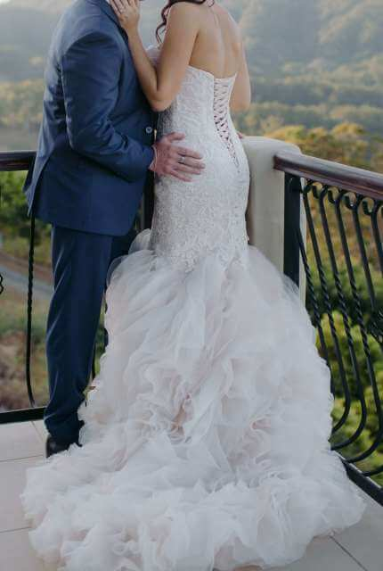 Allure Bridals – Size 10 Fishtail dress | Second hand wedding dresses Nambucca - 3