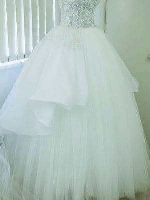 Personalised Weddings Couture – Size 8 Ball Gown dress | Second hand wedding dresses Brighton Le sands - 3