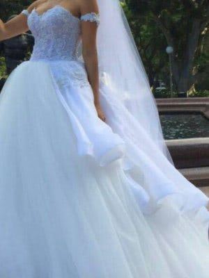 Personalised Weddings Couture – Size 8 Ball Gown dress | Second hand wedding dresses Brighton Le sands - 6