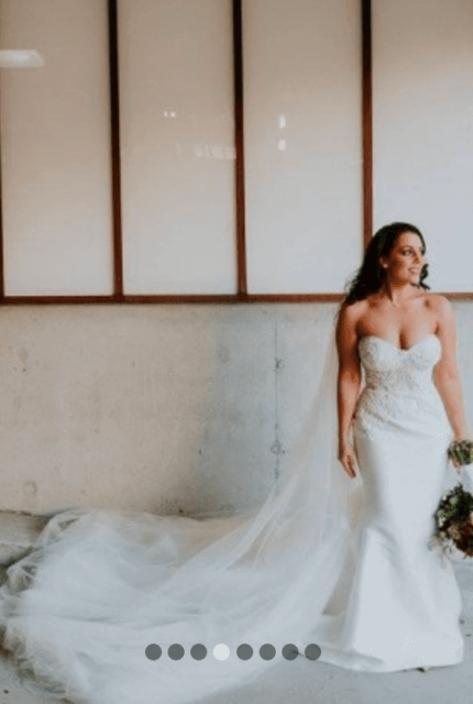 Leah Da Gloria – Size 8 Trumpet dress | Second hand wedding dresses Richmond - 6