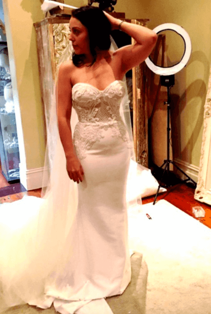 Leah Da Gloria – Size 8 Trumpet dress | Second hand wedding dresses Richmond - 3