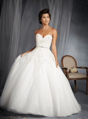 Alfred Angelo – Size 10 A-Line dress | Second hand wedding dresses Springfield Lakes - 2