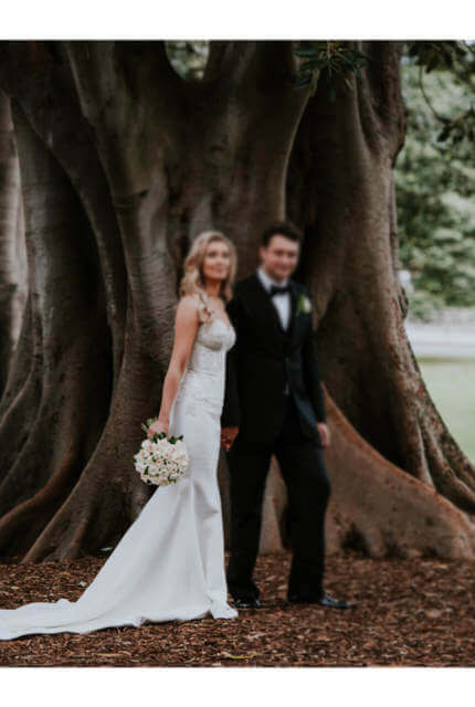 Alin Le' Kal – Size 10 Fit and Flare dress   Second hand wedding dresses Melbourne - 6